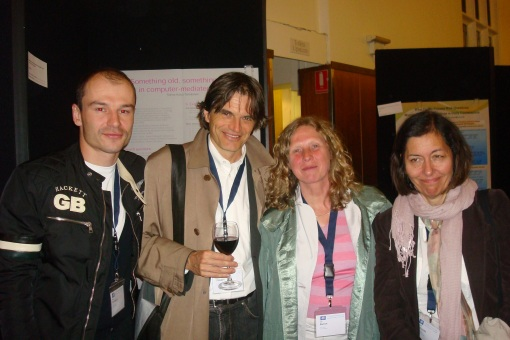 From L-R: Aloxe Jetlag, Daniel 'I flew business and slept 8 hours on the plane' Perrin, Lut Baten, Val Williams
